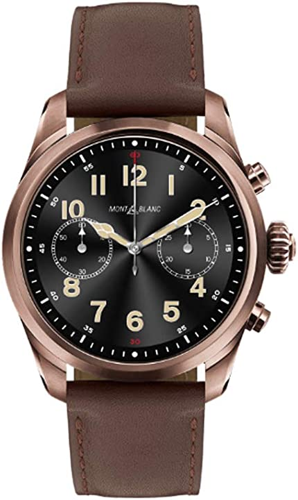 Smartwatch montblanc summit 2 brown pelle marrone 126479