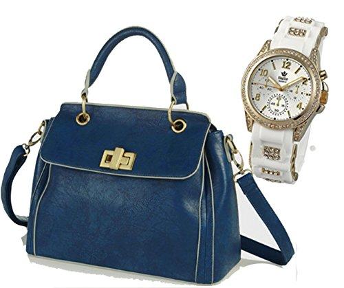 Portogarda Damen Henkel-Tasche Umhängetasche zusammen mit Armband- Damen- Uhr schönes Geschenk-Set- Designer Tasche von Kaytie Wu