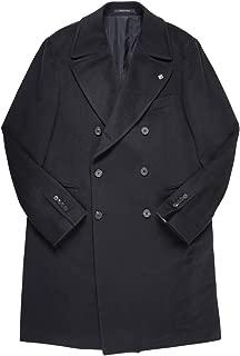 [54] [TAGLIATORE] タリアトーレ コート メンズ 秋冬 ブラック 黒 カシミヤ100% CSBLM0B 大きいサイズ [18809bk] [並行輸入品]
