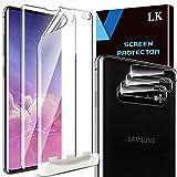 LK Compatible con Samsung Galaxy S10 Plus Protector de Pantalla,3 Pack Protector Pantalla y 3 Pack Protector de Lente de cámara, Película Protectora de TPU,Doble protección