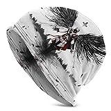 JONINOT Assassin s Creed Knit Hat Multifuncional Ligero Casual Beanie Hat Skull Cap Soft Light Transpirable Unisex Sombreros Negro