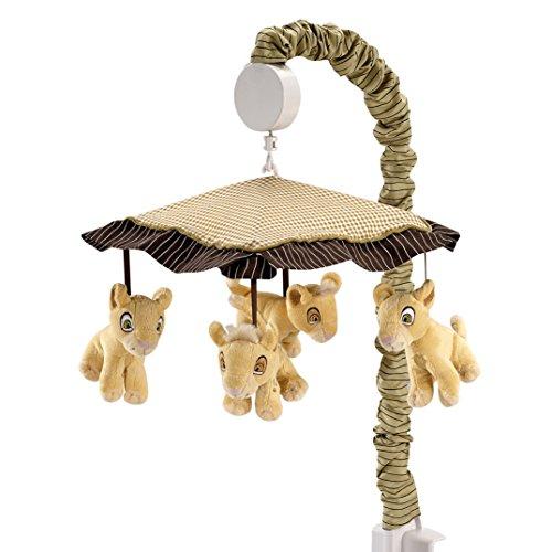 Disney Lion King Simbas Wild Adventure Musical Mobile, Ivory, Brown, Sage, Tan
