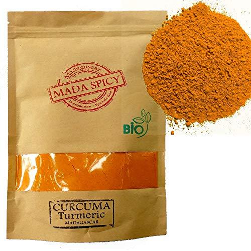 """Cùrcuma organica en polvo 250g de Madagascar """" Gourmet Calidad """". Bolsita eco cierre zip"""