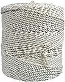 Cuerda de macramé de algodón natural de 4 mm x 260m cuerda para colgar plantas