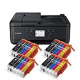 Canon Pixma TR7550 TR-7550 Imprimante Multifonctions Couleur (4) Mit 20 XXL Patronen