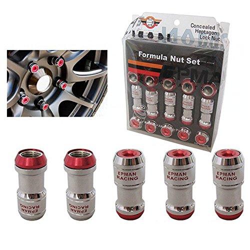 Authentic Epman Acorn Rim Racing Lug Wheel Nuts Screw 20pcs M12 X1.5 Car For Toyota Lug Nuts Red