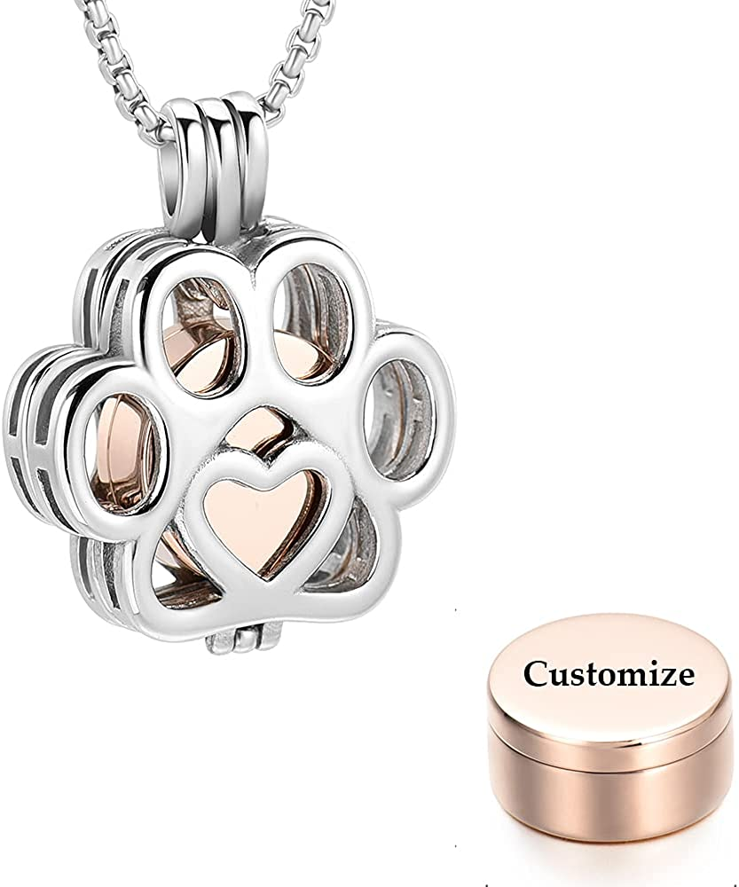 Pet Fort Worth Mall Cremation Jewelry For Ashes Cat Steel Stainless Dog Paw Selling