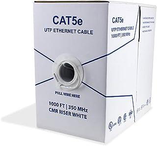 BV-Tech Cat5e Riser (CMR), 1000ft, 24AWG 4 Pair Solid Bare Copper, 350MHz, (UTP), ETL Listed, UL Listed, Bulk Ethernet Cab...