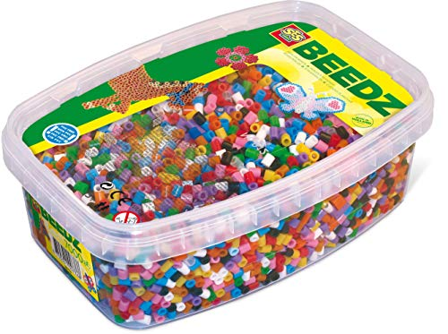SES Creative- Caja de Mezcla de 7000 Cuentas para Planchar básicas para niños SES, Multicolor (00778)
