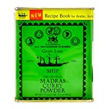 The Original Madras Curry Powder 500 Gramm inkl Kochrezept Heft grüne Dose