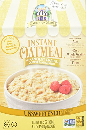 Bakery On Main, Gluten Free, Traditional Oatmeal, 6 Count, 10.5oz Box (Pack of 3)