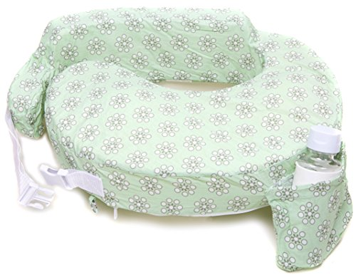 My Brest Friend Original Nursing Posture Pillow, Green Sage Dotted...
