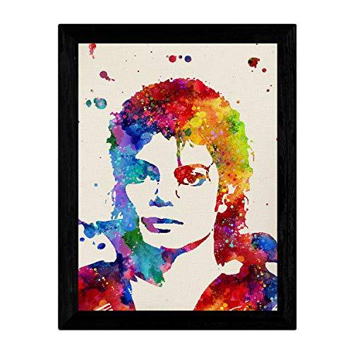 Nacnic Lámina para enmarcar Michael Jackson Laminas Decorativas para Pared. Laminas Estilo Acuarela. Regalo Michael Jackson. Papel 250 Gramos