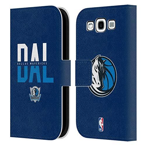 Head Case Designs Ufficiale NBA Tipografia 2019/20 Dallas Mavericks Cover in Pelle a Portafoglio Compatibile con Samsung Galaxy S3 III I9300
