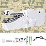 Portable Mini Sewing Machine, Cordless Handheld Sewing Machine...