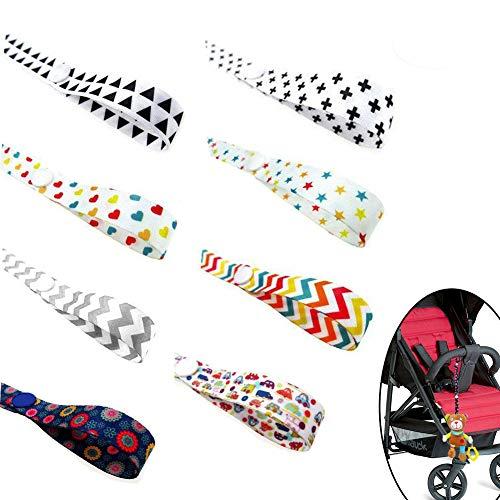 Gurt Spielzeug Gurt Halter Spielzeug Halter Pram Strap Protable PP Anti Drop Spielzeug Einstellbare Strap Clip Gürtelhalter (8 Stück)