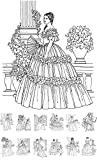 Adult Coloring Book (24 pages) Victorian Lady Vintage Fashion FLONZ Designs for Adult Coloring (8'x11')