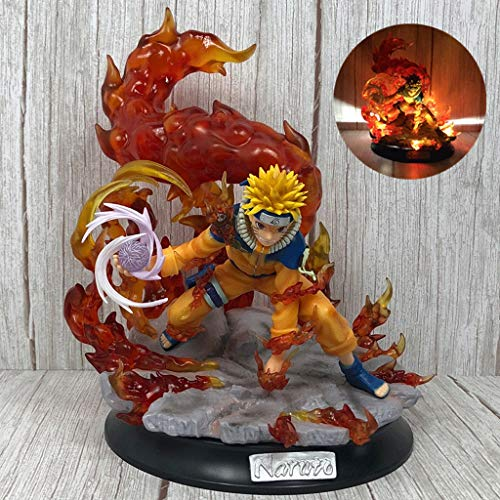 FCL Naruto Shippuden: Illuminated Base Rasengan Uzumaki Naruto Action Figure Statue Anime Statue Collectible Model Toy Home Decoration Artwork Figurines image