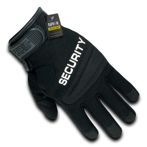 RAPDOM Tactical Security Digital Leather Gloves, Black, X-Large