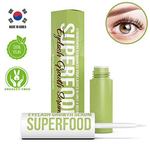 Superfood Eyelash Growth Serum for Lash - Pestañas y cejas gruesas - Lash Booster & Eyebrow Enhancing Serum to Grow Thicker - Fórmula concentrada y sin irritación