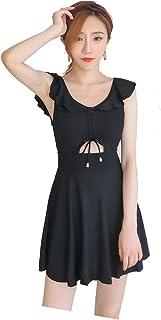 (ブリスクスリー) BriskThree レディース 水着 体型カバー ワンピース ビキニ タンキニ 可愛い ブラック 女性水着 パット付き ワイヤーあり