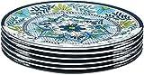 Certified International, Multicolor Talavera 11' Melamine (nitrogen-based plastic) Dinner Plate, Set...