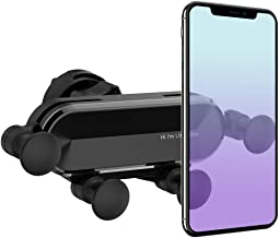Yajuhoy Car Phone Mount Holder: Universal Vehicle Cell Phone Holder for Car Air Vent, Gravity Car Phone Holder Cradle, Car Mount Compatible iPhone 11/XS/Max/XR/X/8 Plus Galaxy S10/S9 and More (Gray)
