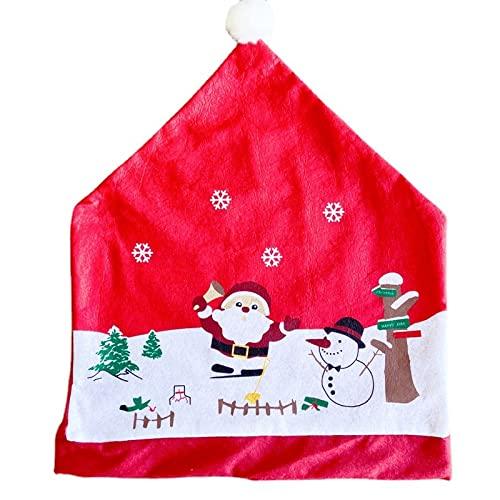 Decoraciones Navideñas Fundas para Sillas Lino Viejo Muñeco De Nieve Funda para Silla Funda para Silla De Franela Blanca Inicio Hotel Escena del Día De Navidad Decoración Decoración Funda para Silla