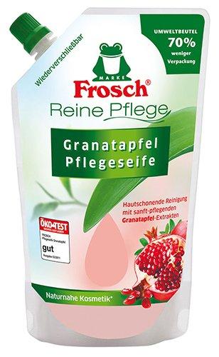 Frosch 12x Pflegeseife Granatapfel, Nachfüllbeutel - 500ml