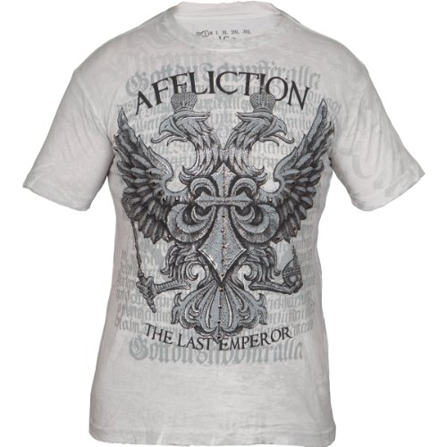 Fedor Warbird Signature Series S/S Guys T-shirt in Vintage White by Affliction Clothing, Size: Large