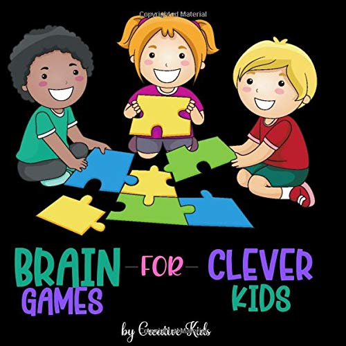 Brain Games For Clever Kids: 341 Puzzles: Maze,Sudoku,Word Search & Crossword   A Fun Game for Kids/Adults/Family   Puzzles For Toddlers & Grown Ups ...   Activity Book For Preshoolers&Kinderkarden
