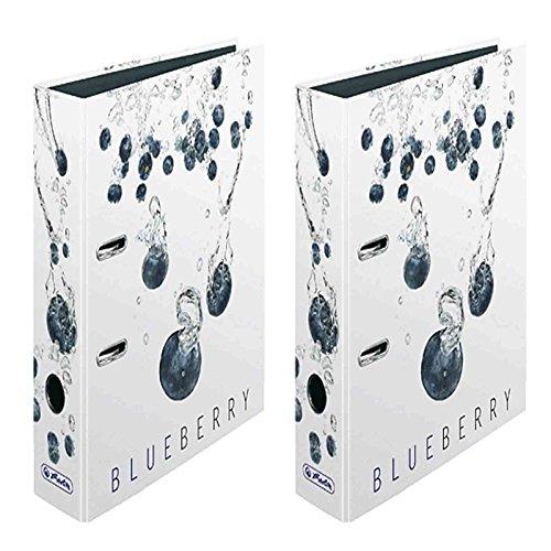 HERLITZ Lot de 2 Classeurs à Levier maX.file Dos de 80 mm Motif Blueberry
