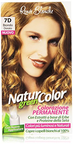 teinture pour les cheveux coloration permanent naturel natur color green7 d blond d'or