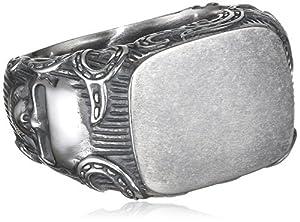 caï men Herren-Ring Rockabilly 925 Sterling Silber