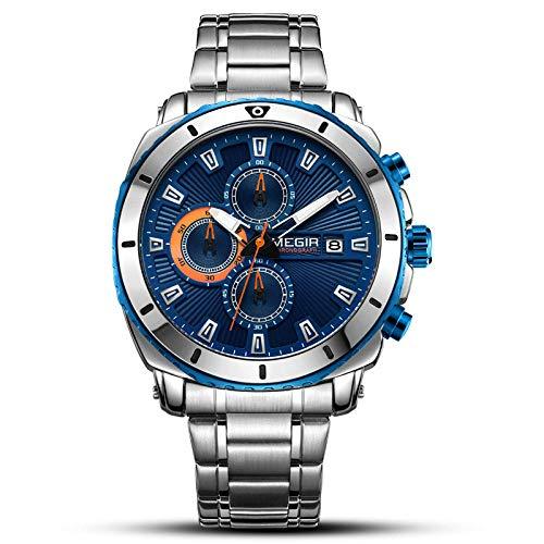 Relojes de Negocios de Moda analógicos Impermeables para Hombres-A