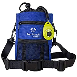 Pup Pouch By Nookoo shown in blue.