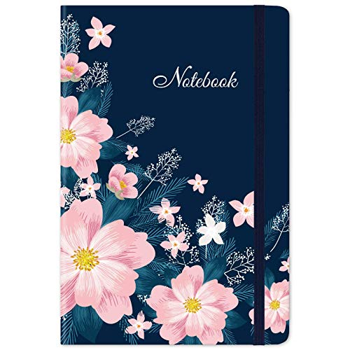 """Lined Journal/Notebook – Ruled Journal, 5.5"""" X 8.25"""", Hardcover, Page Mark, Thick Back Pocket, Lay Flat 360° to Write Easy with Premium Paper, Ruled Journal, Perfect for School, Office & Home"""
