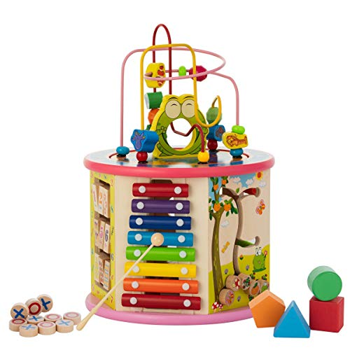 Wooden Center 8-in-1 Educational Toys Best Learning Toys for...