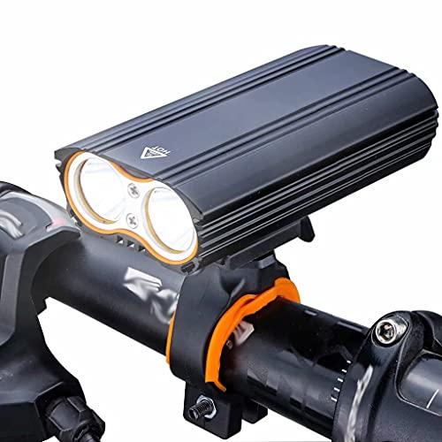 FSJD Fahrradbeleuchtung 2400 Lumen LED USB Wiederaufladbares, wasserdichtes Fahrradfahrrad, für Nachtfahrten, schwarz, 5 m × 10,8 cm
