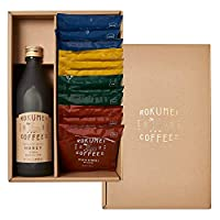 ロクメイコーヒー コーヒーギフト カフェベース & ドリップバッグ 詰め合わせ - ハニー - 黒のし・結び切り