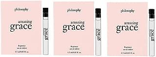 lot of 3 Amazing Grace by Philosophy Eau De Toilette Sample Vial 0.05 oz
