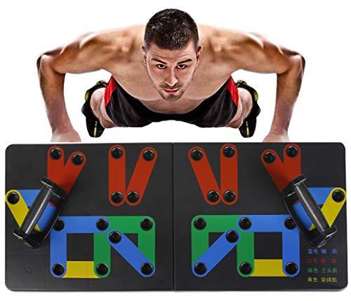 LNLJ - Soporte plegable para flexiones, 14 en 1, herramientas de ejercicio para el culturismo, multifunción, sistema de entrenamiento portátil para hombres y mujeres