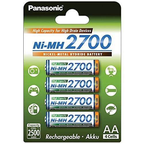 4x Panasonic AA Mignon Akku BK-3HGAE/4BE, wiederaufladbare Batterie HR6 NH15 1,2V min. 2500mAh
