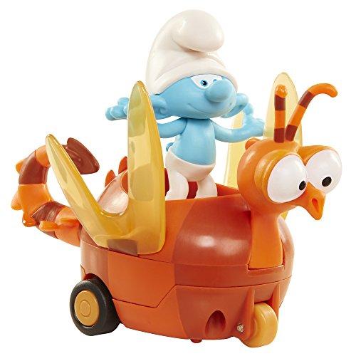 The Smurfs I Puffi Clumsy & Spitfire Personaggio Tontolone con Veicolo a Retrocarica