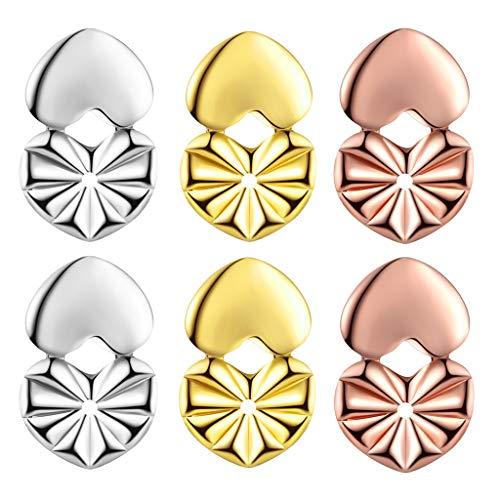 Ear Lifters for Earrings As Seen On TV 3 Pairs Per Set, Hypoallergenic Post Earring Backs for Heavy Earring Metal Secure Earring Backings