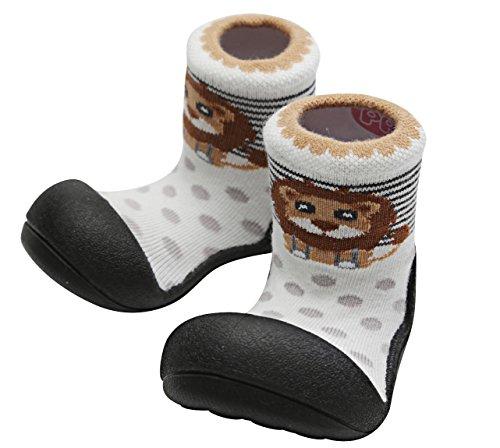 Attipas Zoo AZO0301 - Zapatos Primeros Pasos, Negro, 19 EU
