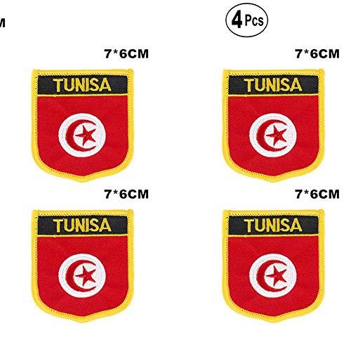 Tunesië afgeschermde vorm vlag patches nationale vlag patches voor Cothing DIY Decoratie