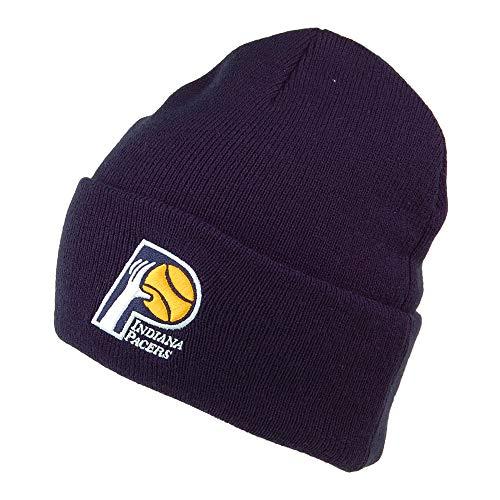 Mitchell & Ness Indiana Pacers Beanie Mütze - NBA Team Logo Cuff Knit - Marineblau - One Size