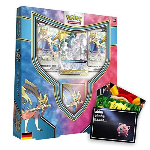 Lively Moments Pokemon Karten Liga Kampf Deck Zacian-V DE Deutsch und Exklusive GRATIS Grußkarte
