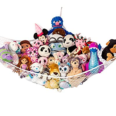"Lilly's Love Stuffed Animal Storage Hammock - Large ""STUFFIE Party Hammock"" - Organize Stuffed Animals and Children's Toys with this Stuffed Animal Net by Lilly's Love"